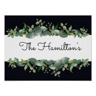 Personalized Eucalyptus Watercolor Wall Art Design