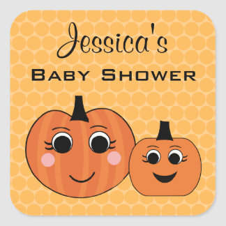 Personalized Fall Baby Shower Name Stickers