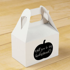 Personalized Fall Bridesmaid Proposal with Photo Favor Box
