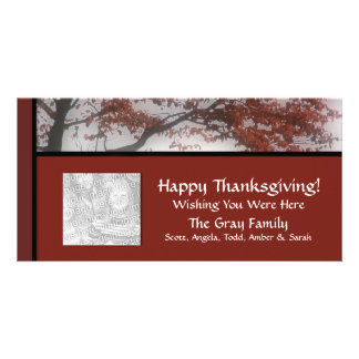 Personalized Fall Thanksgiving Wish You Were Here Photo Cards