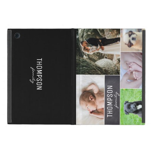 Personalized Family Baby Pets Photo Collage Case For iPad Mini