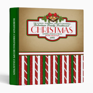 Personalized Family Christmas Recipe Binder