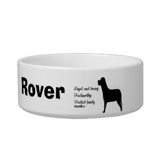 Personalized Family Dog Bowl