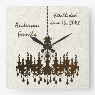 Personalized Family Established  Chandelier Clock