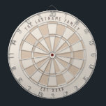 """Personalized Family Established Custom Colors Dart Board<br><div class=""""desc"""">Classic style dartboard with modern and elegant color scheme with your personalized text on the top and bottom of the board for your family's name and family established year.  Customize this dartboard with your desired colors!</div>"""