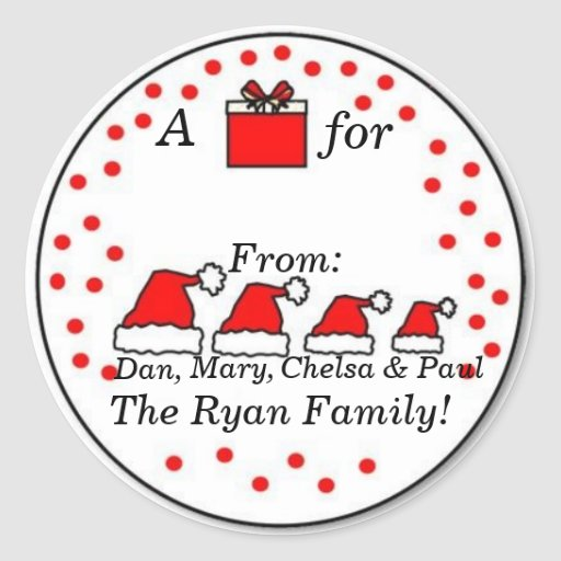Personalized Family Gift Sticker