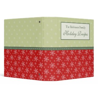 Personalized Family Holiday Recipe Binder binder