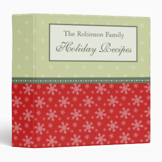 Personalized Family Holiday Recipe Binder