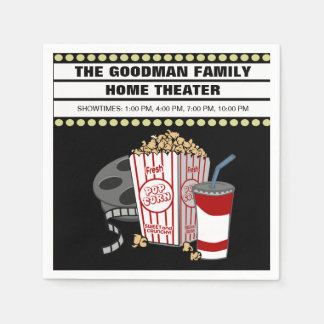 Personalized Family Home Movie Theater Customized Napkin