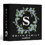 Personalized Family Monogram Bridal shower Recipe Binder