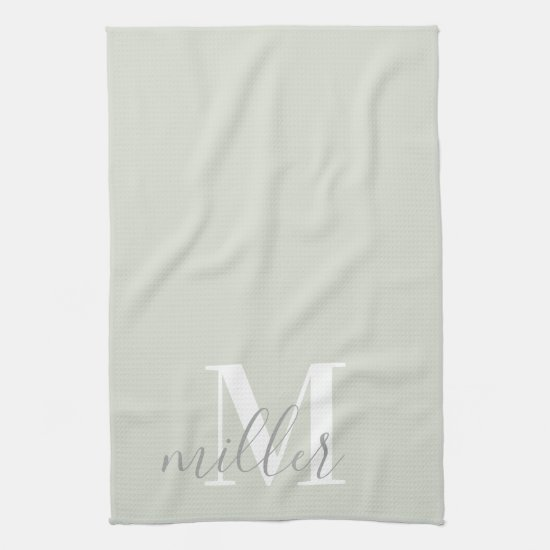 Personalized Family Name Kitchen Hand Towel