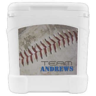 Personalized Family Name Worn Baseball Beverage Cooler