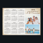 "Personalized Family Photo 2019 Magnet Calendar<br><div class=""desc"">Create your own magnet photo calendar. Customize a 2019 calendar with personal photos. It's a cute idea for the family,  couples,  grandparents,  friends and even workmates for the Christmas,  New Year or any occasions.</div>"