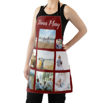 Personalized Family Photo Collage Christmas Apron