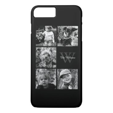 heartlocked Personalized Family Photo Collage iPhone 7 Plus Case