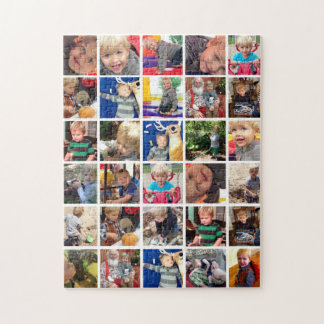 Personalized Family Photo Collage Jigsaw Puzzle