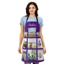 Personalized Family Photo Collage Name Apron