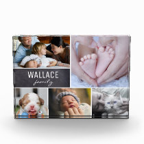 Personalized Family Photo Collage, Name Frame