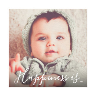 Personalized Family Photo | Happiness is... Canvas Print