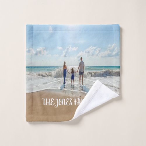 Personalized Family Photo Wash Cloth