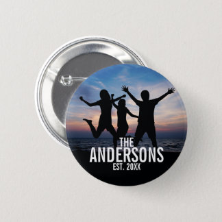 Personalized Family Photo with Family Name Button