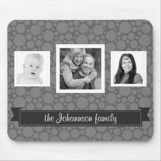 Personalized Family Photos Grayscale Mouse Pad