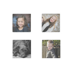 Personalized Family Photos Stone Magnets at Zazzle
