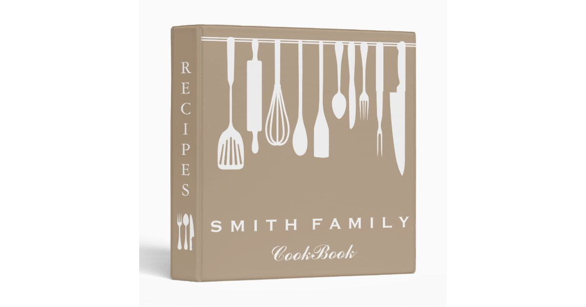 Personalized Family Recipe Cookbook 3 Ring Binder Zazzle Com