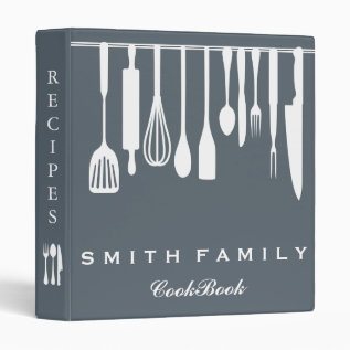 Personalized Family Recipe Cookbook 3 Ring Binder at Zazzle
