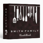 Personalized Family Recipe Cookbook 3 Ring Binder