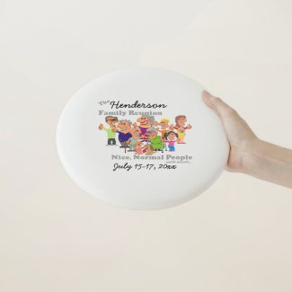 Personalized Family Reunion Funny Cartoon Wham-O Frisbee
