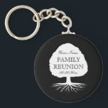 "Personalized family reunion party favor keychains<br><div class=""desc"">Personalized family reunion party favor keychains. Elegant key chain with family tree logo and stylish typography. Cute gift idea for gathering with parents,  grandparents,  children and other relatives interested in genealogy. Template design.</div>"