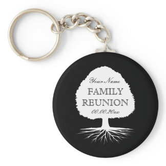 Personalized family reunion party favor keychains