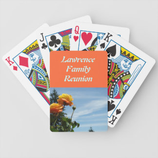 Personalized Family Reunion Party Favors Orange Bicycle Playing Cards