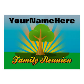Personalized Family Reunion Sign