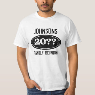Personalized family reunion t shirts with date