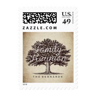 Personalized Family Reunion Vintage Oak Tree Postage