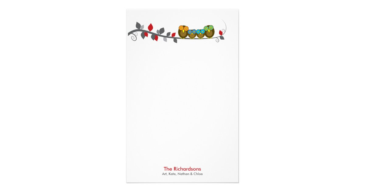 Personalized Family Stationery Zazzle Com