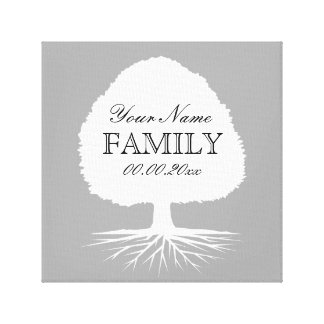 Personalized family tree canvas art illustration