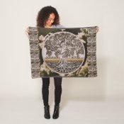 Personalized Family Tree Fleece Blanket (<em>$31.65</em>)