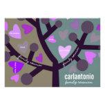 Personalized Family Tree & Hearts Family Reunion Custom Invitations