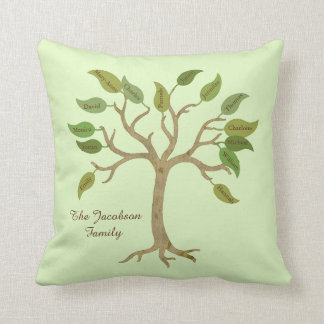 Personalized Family Tree Pillow