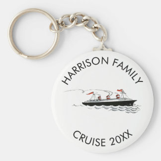 Personalized Family Vacation Cruise | Vintage Ship Keychain
