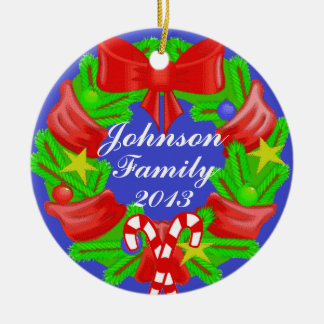 PERSONALIZED Family Yearly Christmas Ornament