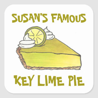 Personalized Famous Key Lime Pie Baked By Stickers