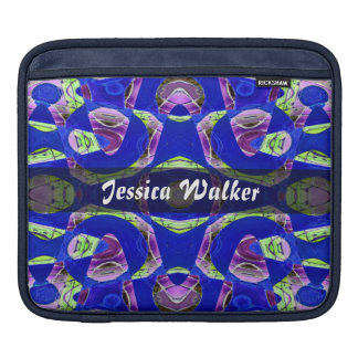 Personalized fancy blue abstract sleeves for iPads