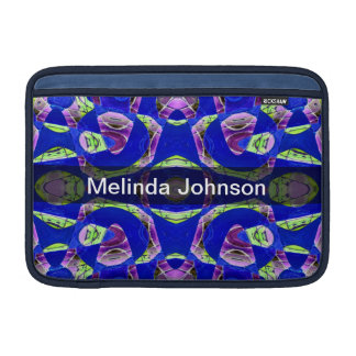 Personalized fancy blue abstract MacBook air sleeve