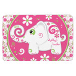 Personalized Fancy Decorated Elephant Flat Magnet