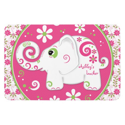 Personalized Fancy Decorated Elephant Flat Magnet Magnets