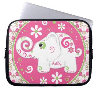 Personalized Fancy Elephant Laptop Sleeve